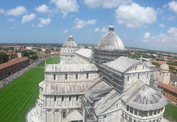 View from the top of the Pisa Tower
