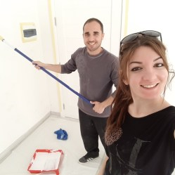 Painting the walls of the house