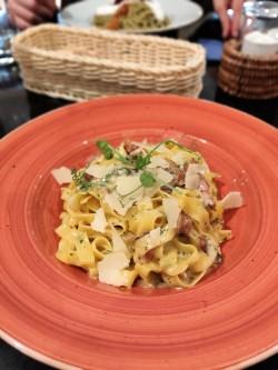 Delicious Tagliatelle Carbonara